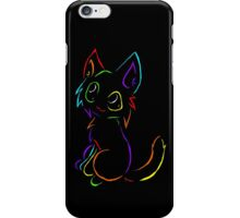 Tribal like cat-Rainbow iPhone Case/Skin