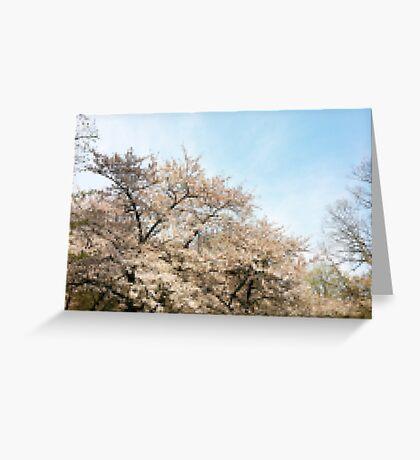 8 Bit Pixel Sakura Greeting Card