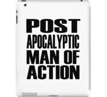 Post-apocalyptic Man of Action iPad Case/Skin