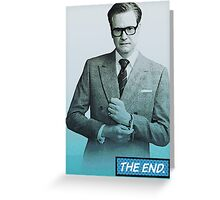 Colin Firth Comic Book Style Greeting Card