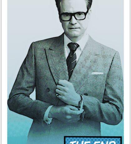Colin Firth Comic Book Style Sticker