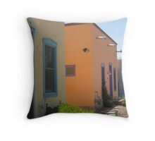Colorful Houses in the Barrio Throw Pillow