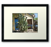 Cactus, Wrought Iron, and Wrought-Iron Cactus Framed Print