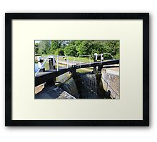 Water through a lock Framed Print