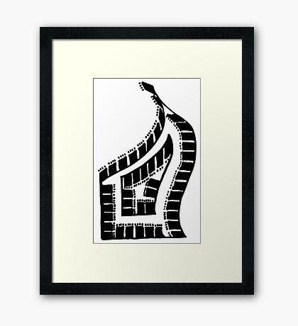 BW Grand Piano Framed Print