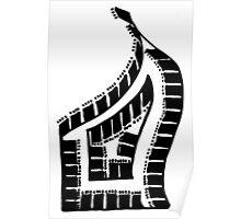BW Grand Piano Poster
