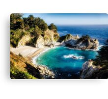 Magical Cove with a Waterfall Canvas Print