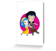 Gajeel and Levy Couple Chibi Greeting Card