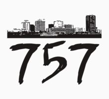 Virginia Beach - 757 (Black Logo) by Klay70