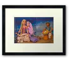 Barbie makes a friend Framed Print