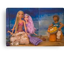 Barbie makes a friend Canvas Print