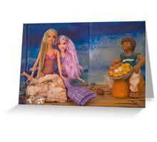 Barbie makes a friend Greeting Card