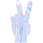 Holographic Peace Hand by cdanoff