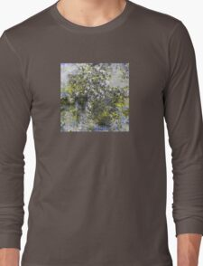 Blue and Yellow Abstract Design Long Sleeve T-Shirt