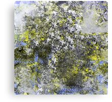 Blue and Yellow Abstract Design Canvas Print