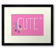 Cute to the power of 10 Framed Print