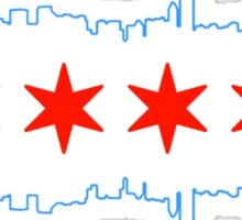 Chicago Heart Beat Sticker