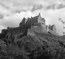 b&w edinburgh castle by gemma angus
