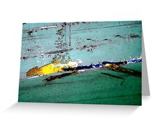 Hear the One 'bout  the Banana slipping on it's own Skin..  Greeting Card