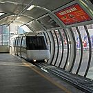 Sydney Monorail station, Darling Harbour (interior) by buildings