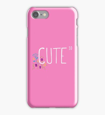 Cute to the power of 10 iPhone Case/Skin