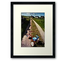 Abandoned Tricycle Framed Print