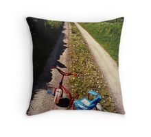 Abandoned Tricycle Throw Pillow