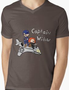 Captain and Widow Mens V-Neck T-Shirt