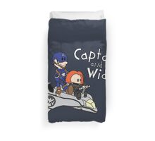 Captain and Widow Duvet Cover