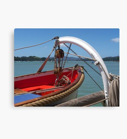 Lifeboat, swung out and ready to go...........! Canvas Print