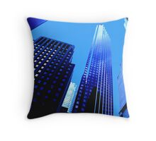 City Blue Throw Pillow