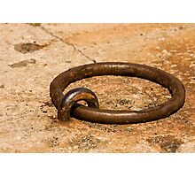 Rusty Old Docking Ring Photographic Print