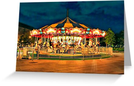 Merry-go-round by Evelina Kremsdorf