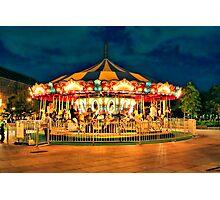 Merry-go-round Photographic Print