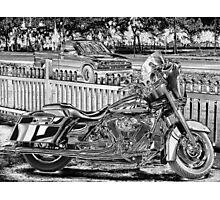 Metal Motorcycle #11 Photographic Print