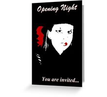 Theater Invitation Greeting Card
