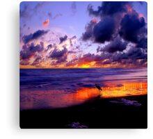 Beautiful Sunset ocean beach Canvas Print