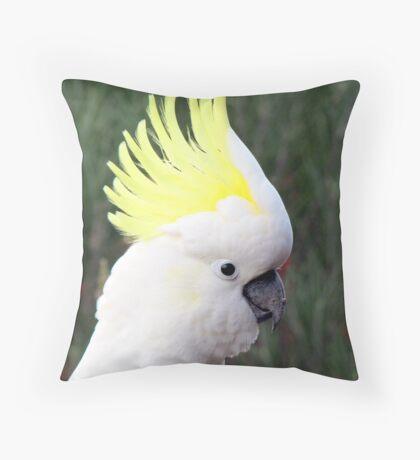 Sulphur Crested Cockatoo Throw Pillow
