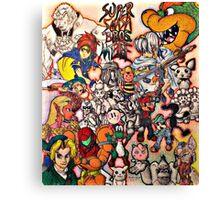 Super Smash Bros Melee Collage Canvas Print
