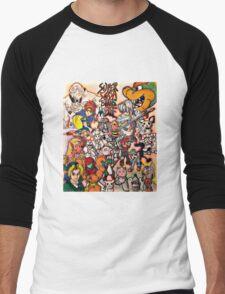 Super Smash Bros Melee Collage Men's Baseball ¾ T-Shirt