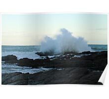 Big waves,Hallett cove, S.A. Poster