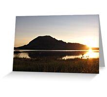 Sunrise Over Bear Butte Lake Greeting Card
