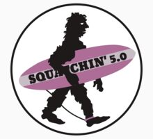 Squatchin' Surfing Bigfoot by piedaydesigns