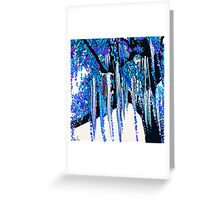 Tree Moss Blue and Purple Greeting Card