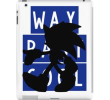 SONIC IS WAY PAST COOL iPad Case/Skin