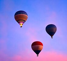 Cotton Candy Skies - Balloons Over Luxor, Egypt by Mark Tisdale