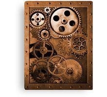 Steampunk Gears Canvas Print
