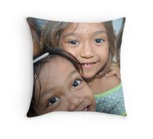 Mentawai kids Throw Pillow
