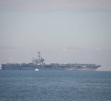 U.S.S George Washington. Just Off Fremantle. Perth. by m004