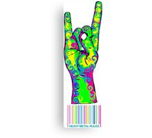 HEAVY METAL RULES - color swirls Canvas Print